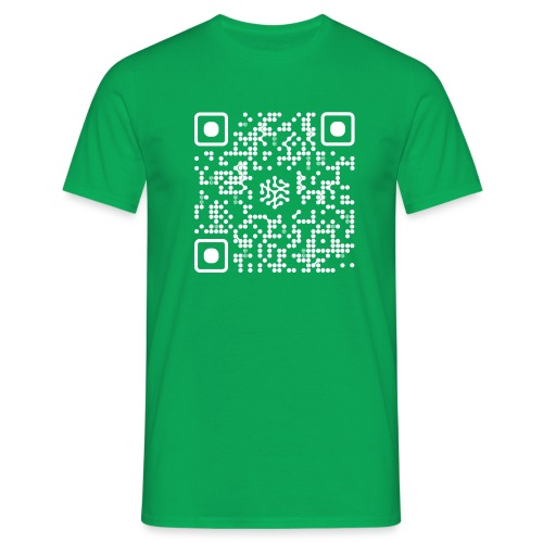 QR Safenetforum White - Men's T-Shirt