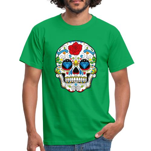 Totenkopf Abstrakt - Männer T-Shirt