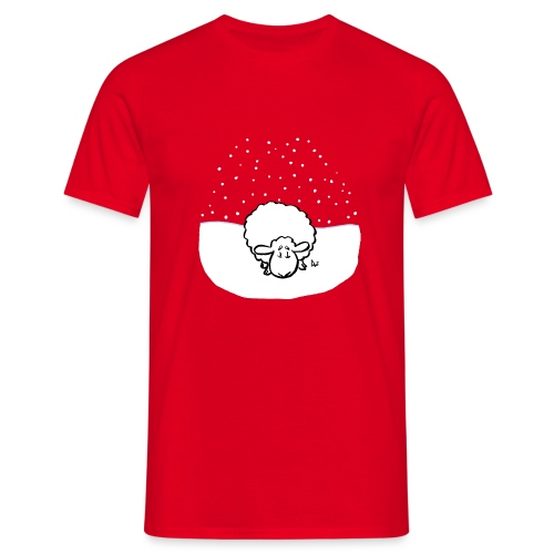 Snowy Sheep - Men's T-Shirt