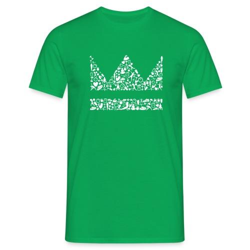 Krone icons weiss - Männer T-Shirt