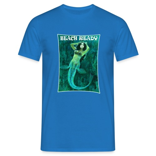 Vintage Pin-up Beach Ready Mermaid - Men's T-Shirt