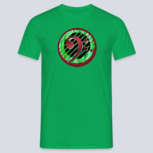 BassClef red green - Men's T-Shirt