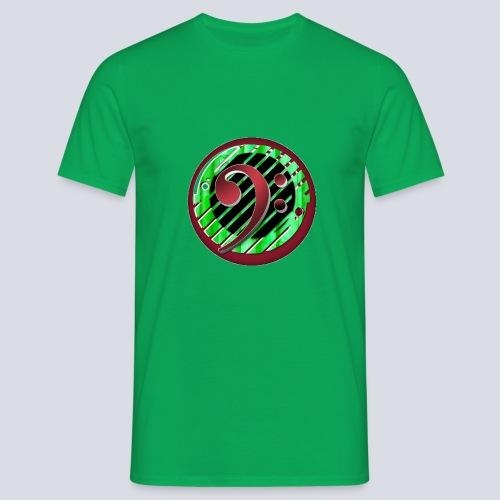 BassClef red green - Men's T-Shirt