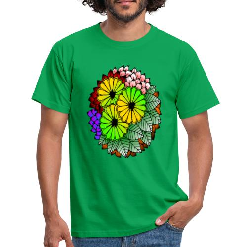 Mandala Blumen Design - Männer T-Shirt