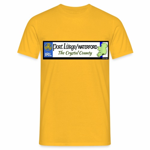 WATERFORD, IRELAND: licence plate tag style decal - Men's T-Shirt