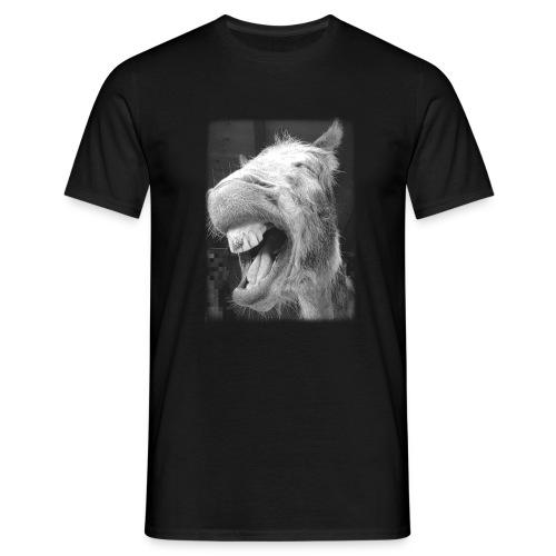 lachender Esel - Männer T-Shirt