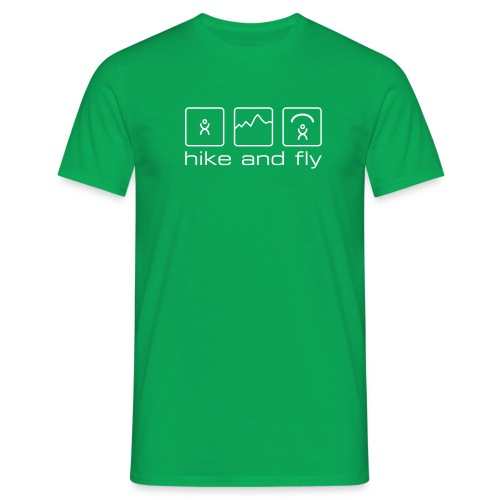 hike and fly - Männer T-Shirt