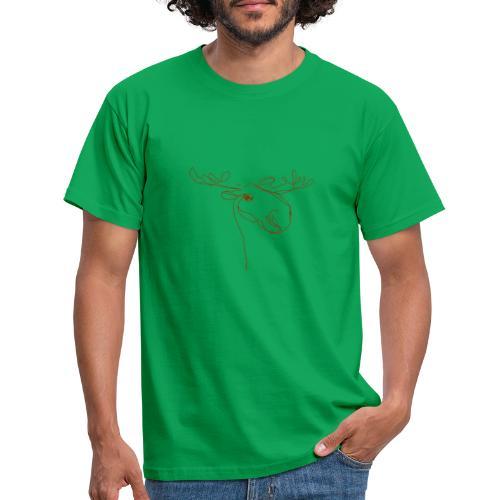 Elch braun in Linien - Männer T-Shirt