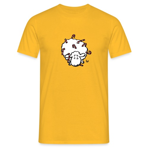 Candy Cane Sheep - Men's T-Shirt