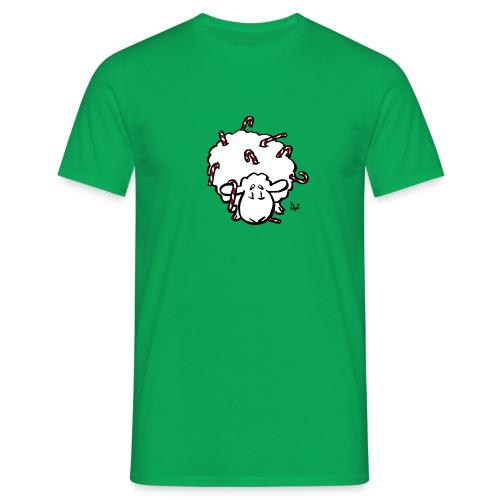 Candy Cane Sheep - Men's T-Shirt