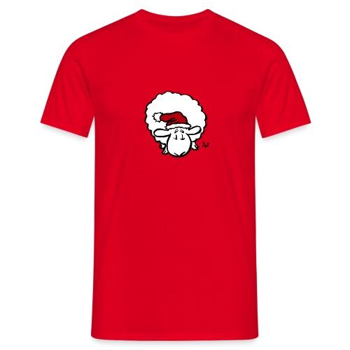 Santa Sheep (red) - Men's T-Shirt