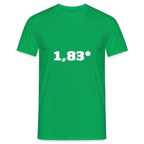1 83 front - T-skjorte for menn