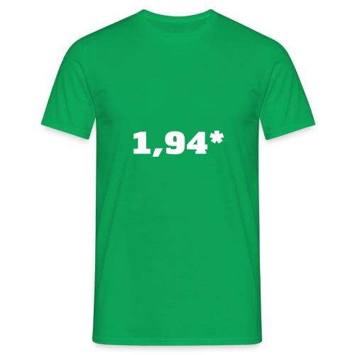 1 94 front - T-skjorte for menn