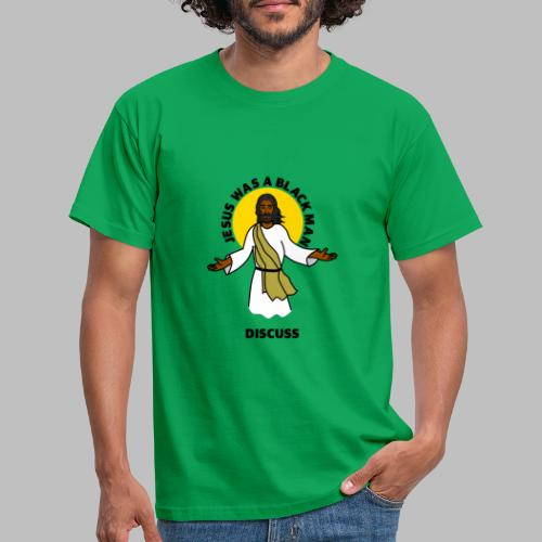 Jesus Black Discuss - Men's T-Shirt