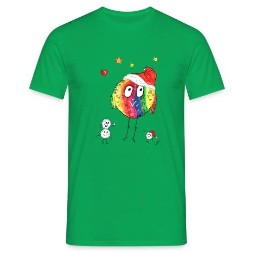 Happy Weihnachtskugelbird - Männer T-Shirt