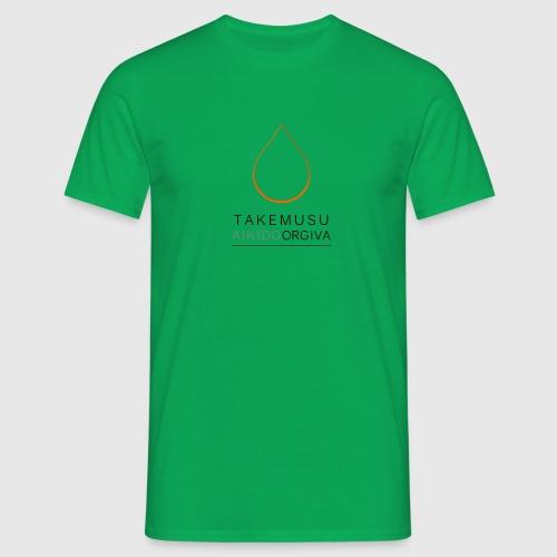 TAO logo Orange black text - Men's T-Shirt
