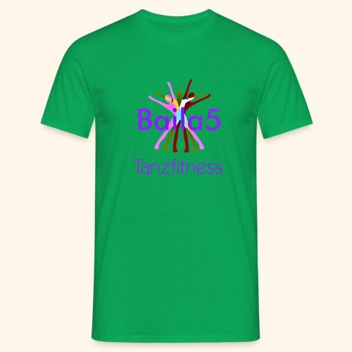Baila5 Tanzfitness violet - Männer T-Shirt