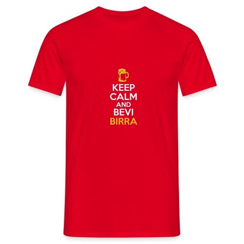 KEEP CALM AND BEVI BIRRA - Maglietta da uomo