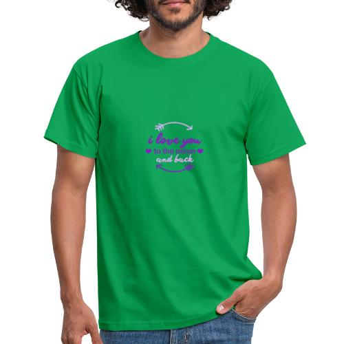 i lo ve you to the moon and back - Camiseta hombre