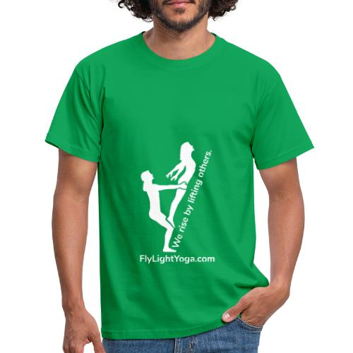 White: We Rise By Lifting Others - AcroYoga - Men's T-Shirt