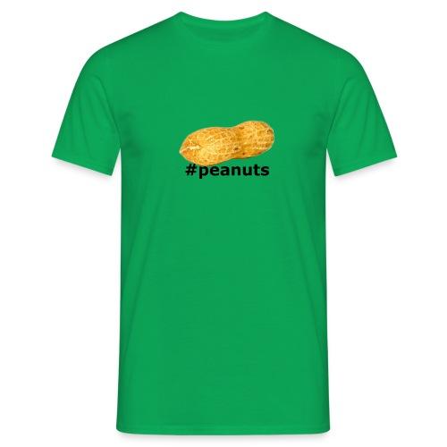 hashtag peanuts black - Männer T-Shirt