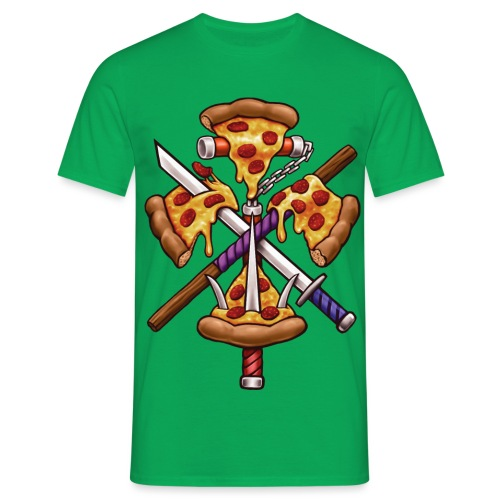 Ninja Pizza - Men's T-Shirt