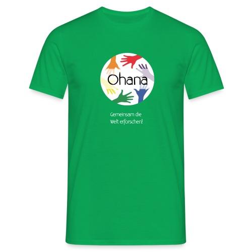 Logo mit weißem Text - Männer T-Shirt