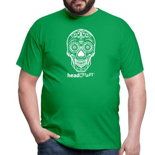 Skull & Logo white - Männer T-Shirt