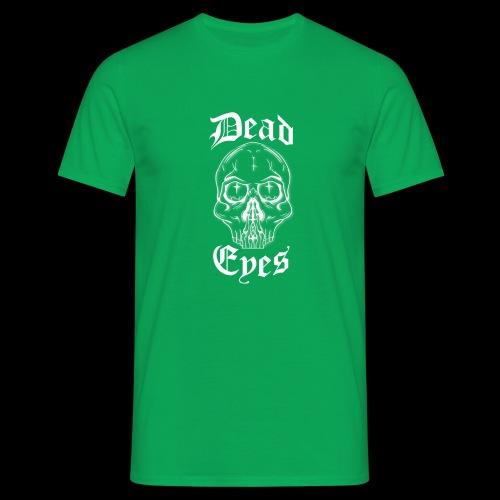 dead eyes logo transparent2 weiß - Männer T-Shirt