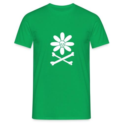 Skull-flower and Crossbones - Men's T-Shirt