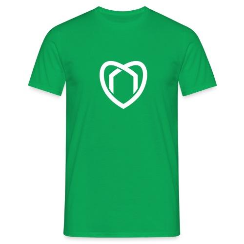 Blaue Haus Logo Herz - Männer T-Shirt