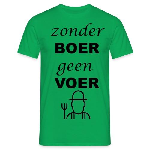 Zonder BOER geen VOER - Mannen T-shirt