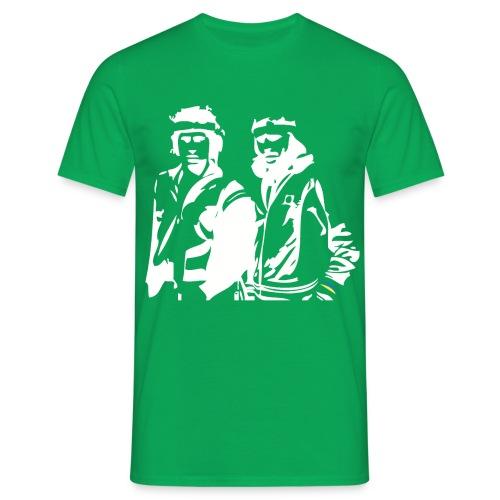 Borg McEnroe Retro Green+White - Miesten t-paita