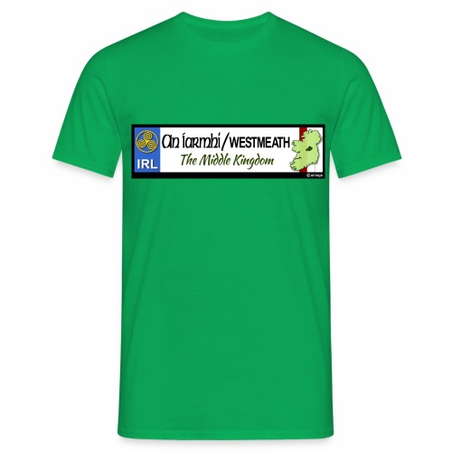 WESTMEATH, IRELAND: licence plate tag style decal - Men's T-Shirt