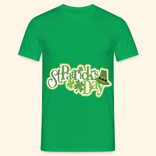 St Patrick`s Day Leprechaun Riding fun gift tshirt - Men's T-Shirt