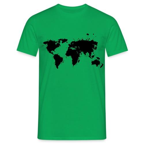 Weltkarte Splash - Männer T-Shirt