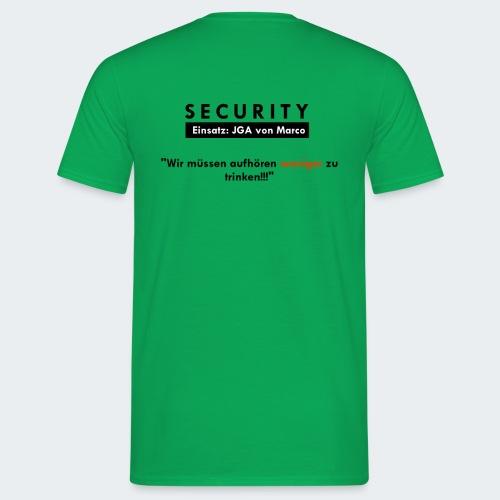 shirt hinten team pixel - Männer T-Shirt