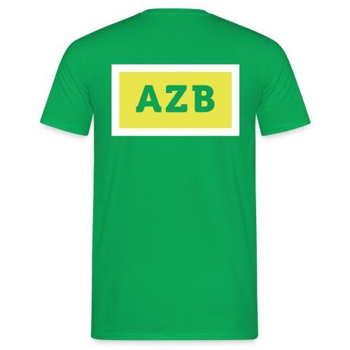 AZB Wit Geel Back - Mannen T-shirt