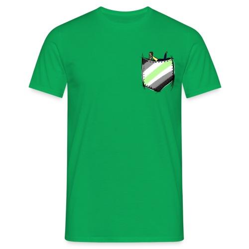 pocket agender flag - T-shirt Homme