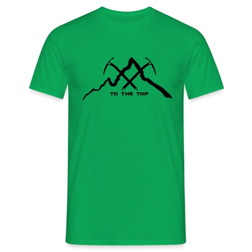 To The Top Black - Männer T-Shirt