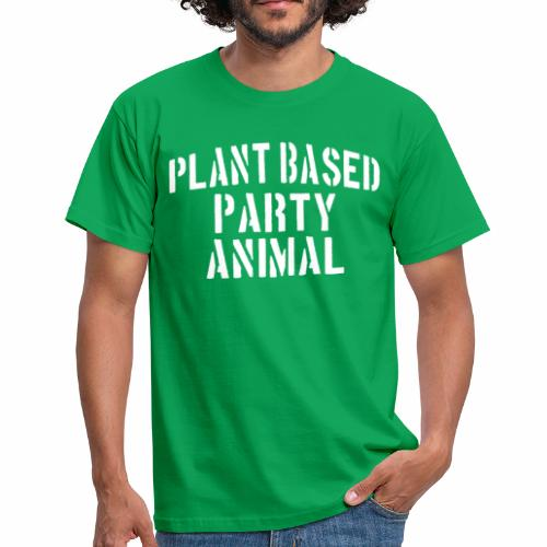 Plant Based Party Shirt Veganer T-Shirt Geschenk - Männer T-Shirt