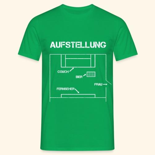 Fussball Aufstellung Weltmeisterschaft Geschenk - Männer T-Shirt