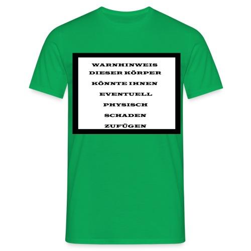 Warnhinweis - Männer T-Shirt