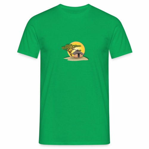 african hut vector art - Men's T-Shirt