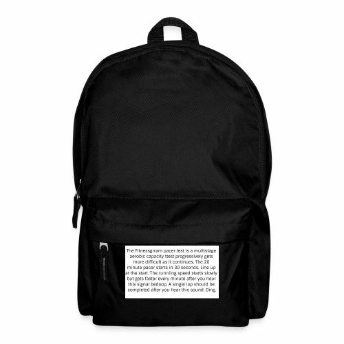 FitnessGram pacer Test - Backpack
