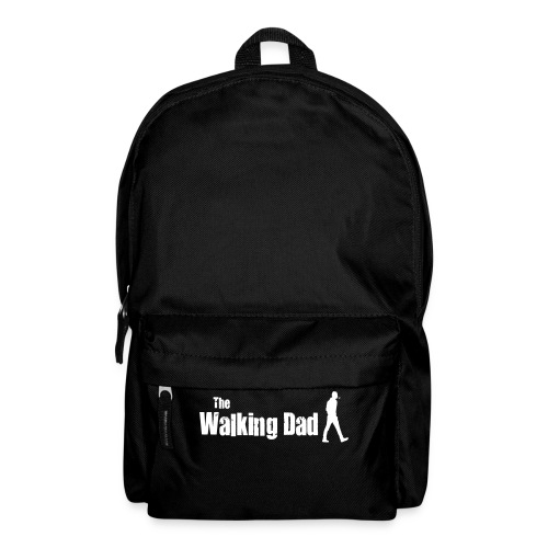 the walking dad white text on black - Backpack