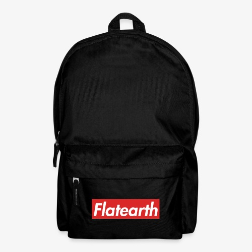 Red Flat Earth Box Logo - Backpack