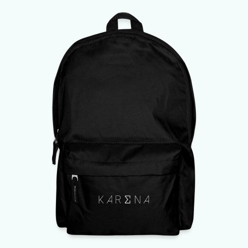 Karena White Logo - Backpack