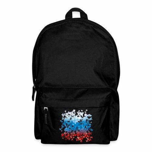 06 Russland Flagge Fahne Russia Schmetterlinge - Rucksack