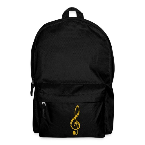 Goldenes Musik Schlüssel Symbol Chopped Up - Backpack